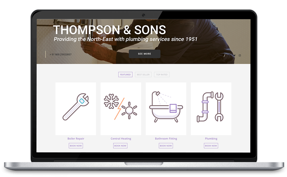 plumbing services webshop ecommerce